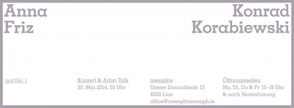 Anna Friz | Konrad Korabiewski | concert | artists talk | Linz